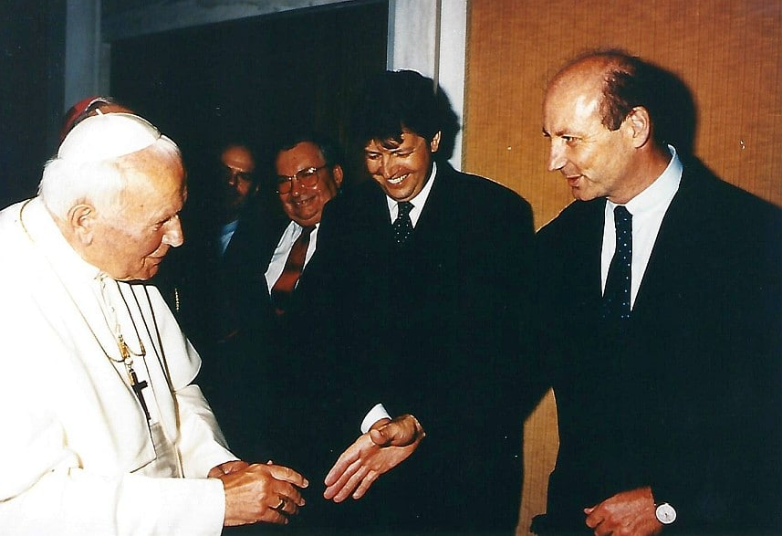 Siegbert Metelko - Papst Johannes Paul II - Gerhard Zeiler
