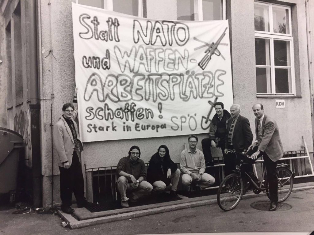 Mit Jugendlichen und Dieter Antoni, Harald Repar und Peter Kaiser in den 90er Jahren