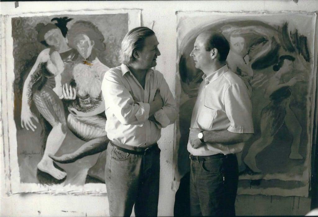 Anlässlich einer Ausstellung des Malers Wolfgang Walkensteiner im Stadthaus Klagenfurt