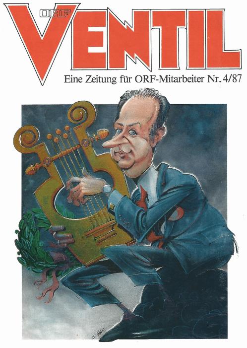 Siegbert Metelko am Cover des ORF-Mitarbeitermagazins Ventil