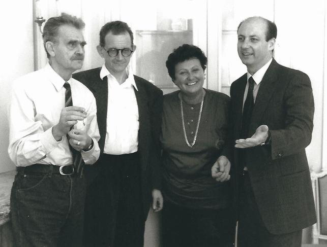 HC-Artmann, Gert-Jonke und der damalingen Ministerin Hilde Hawlicek