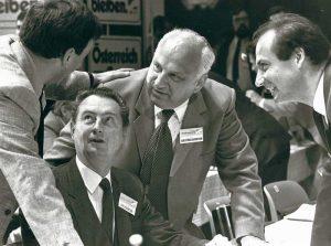 Metelko, Dr. Erwein Paska, Minister Erwin Lanz und Franz Kottek