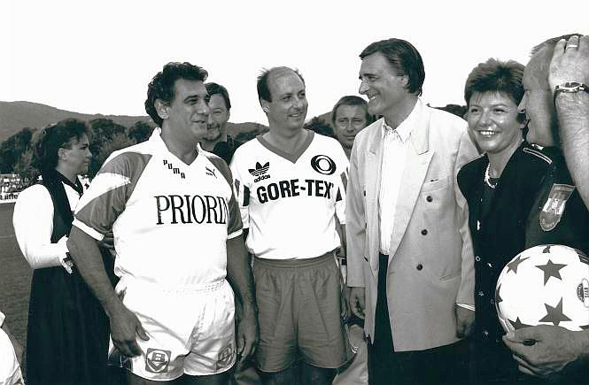 Metelko, Fischer und Placido Domingo