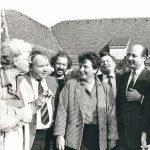Siegbert Metelko mit Hilde Hawlicek, Harry Jeschofnig, H.P. Maya, Prof. Günther Hödl und der Galeristin Inge Freund