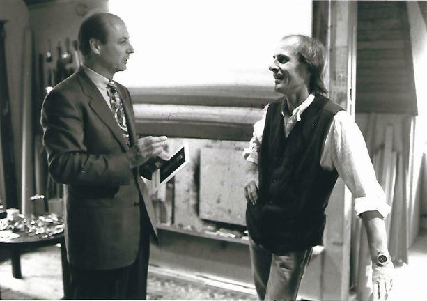 Siegbert Metelko mit Manfred Bokelmann