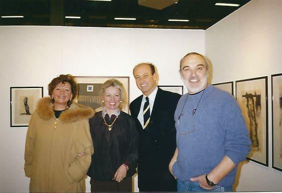 Siegbert Metelko mit Valentin Oman und Judith Walker