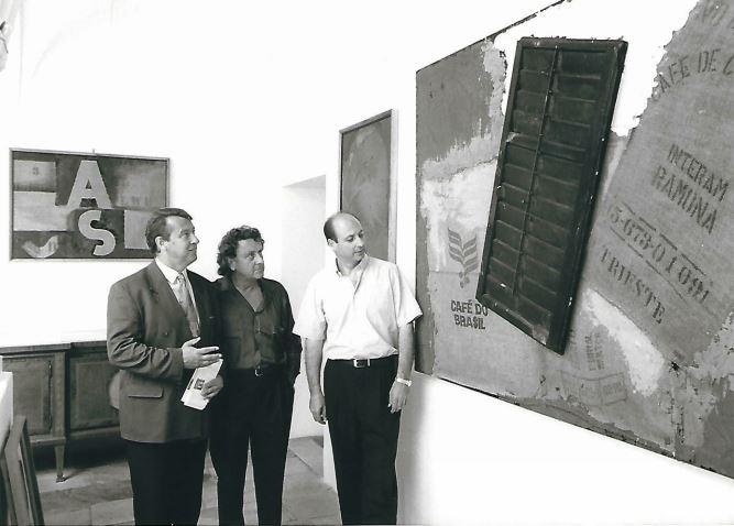 Siegbert Metelko mit dem Maler Carlo Kos