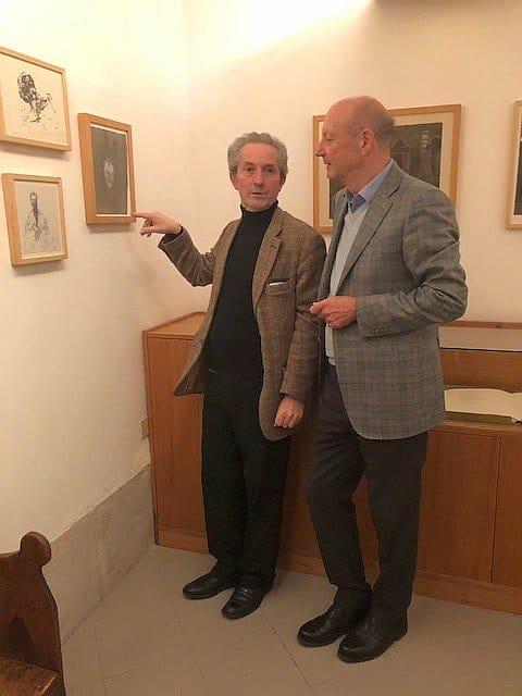 Siegbert Metelko und Galerist Herve Bordas in Venedig