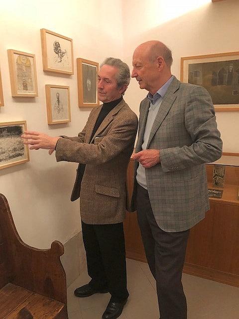 Siegbert Metelko und Galerist Herve Bordas