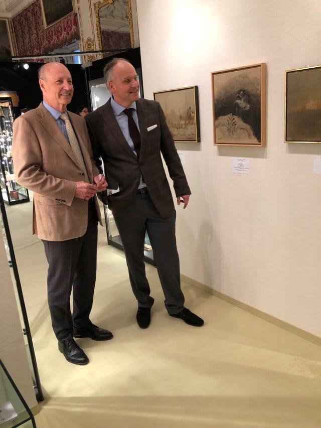 Siegbert Metelko und Galerist Kraut