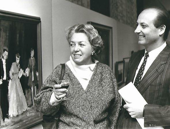 Siegbert Metelko und Künstlerin Ilse Mayr