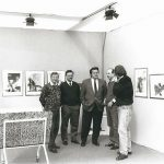 Siegbert Metelko und die Gründer der Galerie B, Prof. Karl Brandstätter, Dr. Karl Safron, Dkfm. Walter Groier und Dr. Ulrich Polley
