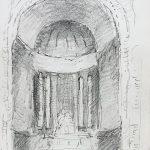 Zoran Music - Interieur einer Kathedrale